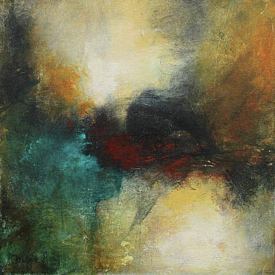 Rich Tones Abstract Painting Poster by Patricia Lintner
