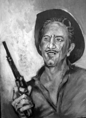 Poster featuring the painting Richard  Boone by Paul Weerasekera