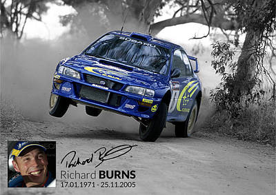 Richard  Burns Poster by Amiee kenny