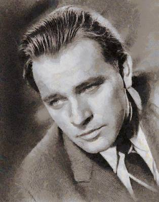 Richard Burton Hollywood Actor Poster