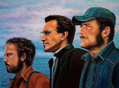 Jaws With Richard Dreyfuss, Roy Scheider And Robert Shaw Poster