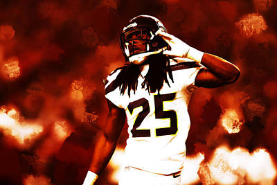 Richard Sherman I Cant Hear You Poster by Brian Reaves
