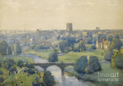 Richmond Castle From The Terrace Poster by MotionAge Designs