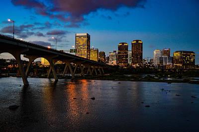 Richmond Skyline At Night Poster