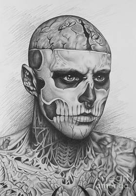 Rick Genest Poster by Elena Spedale
