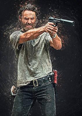 Rick Grimes Poster by Taylan Apukovska