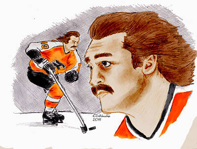 Poster featuring the drawing Rick Macleish - Color by Chris  DelVecchio