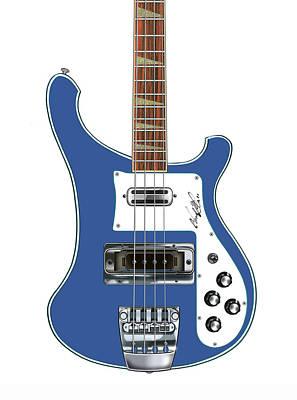 Rickenbacker Bass 4001 Body  Poster by Chad Glass