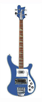 Rickenbacker Bass 4001  Poster by Chad Glass
