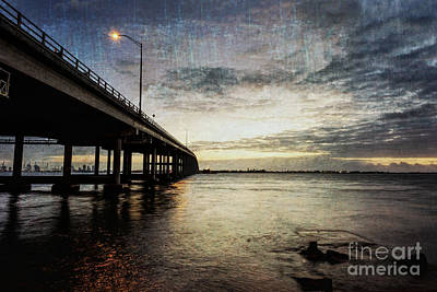 Rickenbacker Causeway At Sunrise Poster by Eyzen M Kim