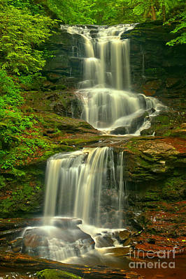 Ricketts Glen Tuscarora Falls Poster by Adam Jewell