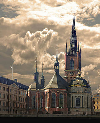 Poster featuring the photograph Riddarholm Church - Stockholm by Jeff Burgess