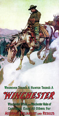 Poster featuring the painting Rider And Packhorse by Philip R Goodwin