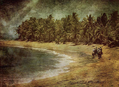 Riding On The Beach Poster by Vittorio Chiampan