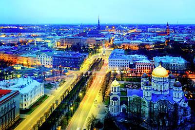 Poster featuring the photograph Riga by Fabrizio Troiani