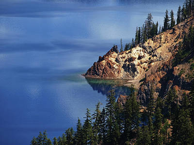 Right Side Of Crater Lake Oregon Poster
