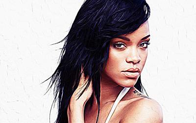 Rihanna Poster by Iguanna Espinosa