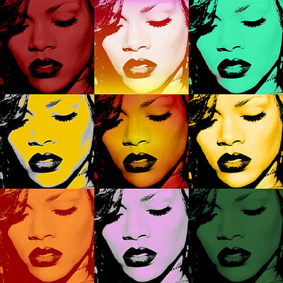 Rihanna Warhol By Gbs Poster by Anibal Diaz