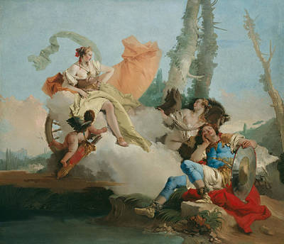 Rinaldo Enchanted By Armida Poster by Giovanni Battista Tiepolo