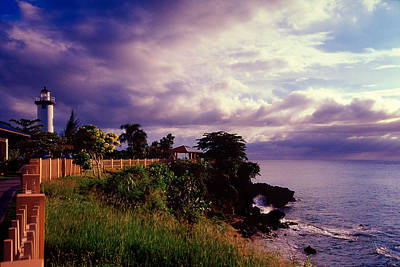 Rincon Lighthouse Puerto Rico Poster by George Oze