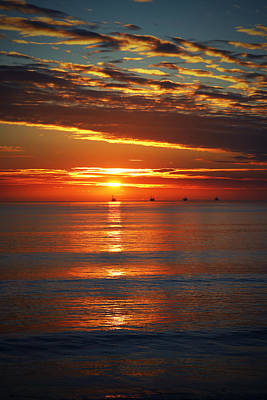 Rincon Sunset Poster by John A Royston
