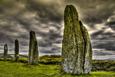 Poster featuring the photograph Ring Of Brodgar Orkney by Gabor Pozsgai