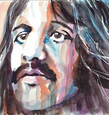Ringo Starr Portrait 1 - By Diana Van Poster by Diana Van