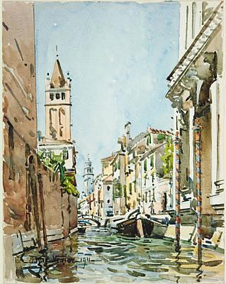 Rio Di San Barnaba. Venice Poster by Edward Darley Boit
