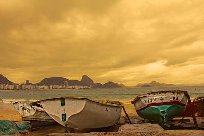 Poster featuring the photograph Rio Fishing Boats by Kim Wilson