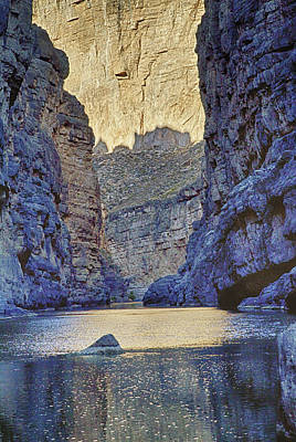 Poster featuring the tapestry - textile Rio Grand, Santa Elena Canyon Texas 2 by Kathy Adams Clark