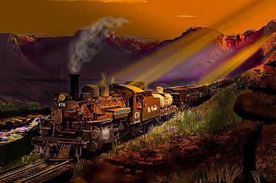 Rio Grande Early Morning Gold Poster by J Griff Griffin
