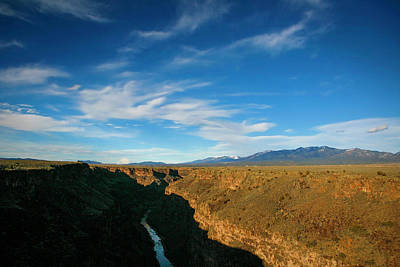 Poster featuring the photograph Rio Grande Gorge Nm by Marilyn Hunt