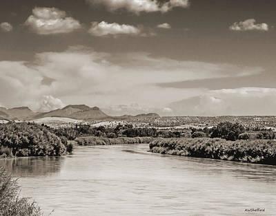Rio Grande In Sepia Poster