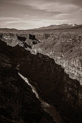Poster featuring the photograph Rio Grande River Taos by Marilyn Hunt