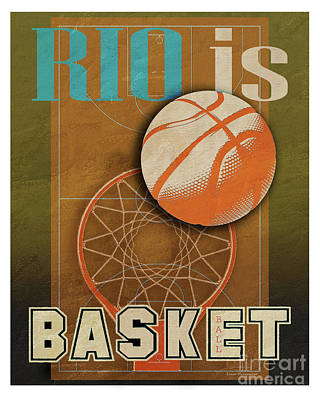Rio Is Basketball Poster by Joost Hogervorst
