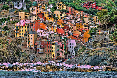 Poster featuring the photograph Riomaggiore by Allen Beatty