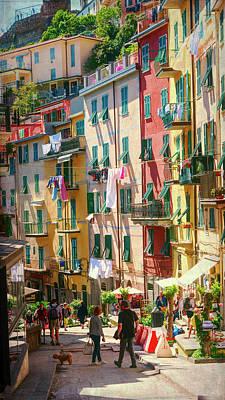 Riomaggiore Cinque Terre Afternoon Poster by Joan Carroll
