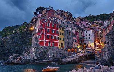 Riomaggiore In Cinque Terre Italy Poster by Joan Carroll