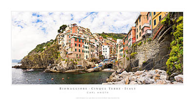 Riomaggiore Italy Poster by Carl Amoth