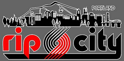 Rip City Poster by Daniel Dummer