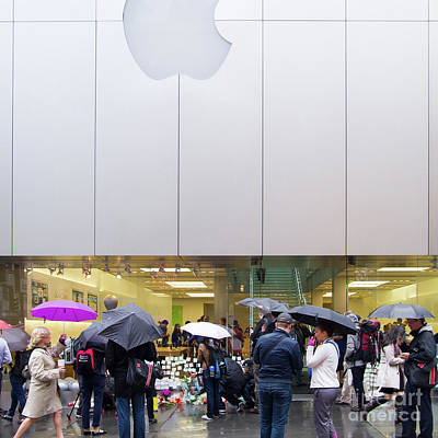 Rip Steve Jobs October 5 2011 San Francisco Apple Store Memorial Square Poster
