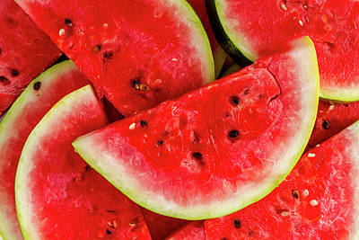 Ripe Slices Of Watermelon Poster by Teri Virbickis