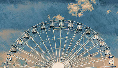 Rise Up Ferris Wheel In The Clouds Poster by Terry DeLuco