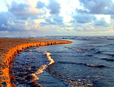 Rising Tide At Sundown  Poster