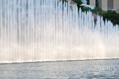 Rising Wall Of Water Bellagio Hotel Casino Fountains Las Vegas Nevada Poster by Andy Smy