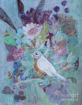 Poster featuring the painting Risky Robin by Robin Maria Pedrero