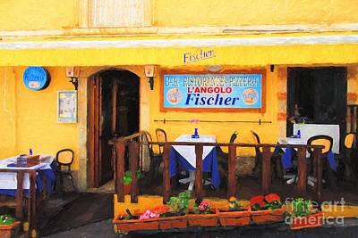 Ristorante In Taormina Poster by Mel Steinhauer