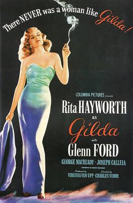 Rita Hayworth As Gilda Poster by Georgia Fowler