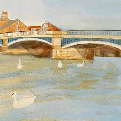 River At Royal Windsor Poster by Joanne Perkins