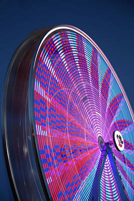 River Bandit's Spinning Ferris Wheel Poster by Tom Weisbrook